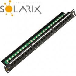 "SOLARIX 19"" Patch panel 24 x RJ45 CAT6 UTP SX24L-6-UTP-BK"