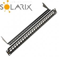 "SOLARIX 19"" Neosadený univerzálny panel 24 portov SX24M-0-STP-BK-UNI"