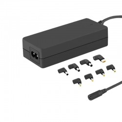 Universal power adapter 65W 8 plugins +power cable 50011