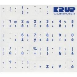PremiumCord Česká přelepka na klávesnici - bílá pkczb