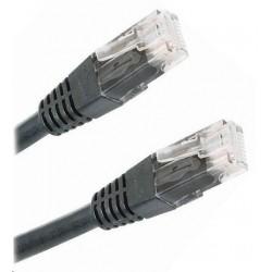 Patch kabel Cat5E, UTP - 0,25m, černý PK-UTP5E-0025-BLK