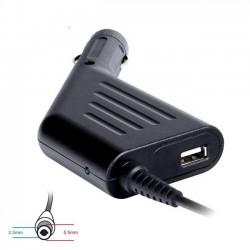 Digitalbox napájací adaptér do auta pre ToshibaAcer 19V/4.74A 90W, (5.5x2.5) USB DBMP-CA0308