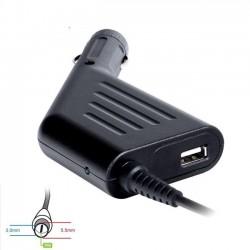 Digitalbox napájací adaptér do auta pre Samsung 19V/4.74A 90W, (5.5x3.0+pin) USB DBMP-CA1306