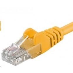 PREMIUMCORD Patch kabel UTP RJ45-RJ45 CAT5e 0.25m žlutá sputp002Y