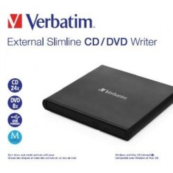 VERBATIM externí mechanika Slimline CD/DVD Writer USB - without...