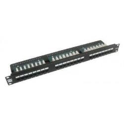 """19"""" Patch panel LYNX 24port, STP, Cat6, 30µm, duální svorkovnice,..."""