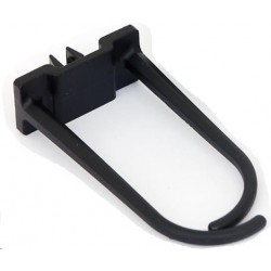 TRITON Plastový háček pro vedení kabeláže velký, 60x30mm, černý...