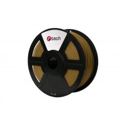 C-TECH Tisková struna (filament) PLA, 1,75mm, 1kg, hnědá...
