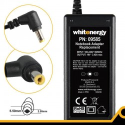 Whitenergy napájecí zdroj 19V/3.42A 65W konektor 5.5x2.5mm 09585
