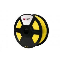 C-TECH Tisková struna (filament) PLA, 1,75mm, 1kg, žlutá 3DF-PLA1.75-Y