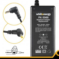 Whitenergy napájecí zdroj 12V/3A 36W konektor 4.8x1.7mm Asus Eee PC 05468