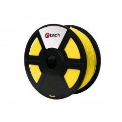 C-TECH Tisková struna (filament) PETG, 1,75mm, 1kg, žlutá...