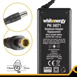 Whitenergy napájecí zdroj 20V/4.5A 90W konektor 7.9x5.5mm + pin IBM 04571