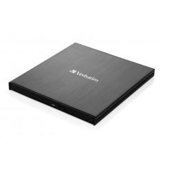 VERBATIM externí mechanika DVD-RW Rewriter USB-C, černá 43886