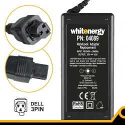 Whitenergy napájecí zdroj 20V/4.5A 90W konektor 3-pin Dell 04089
