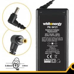 Whitenergy napájecí zdroj 19V/4.22A 80W konektor 5.5x3.0mm + pin Samsung 04121