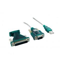 4World Adaptér USB na Serial port DB9 a DB25 OEM 01434-OEM