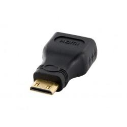 4World Adaptér mini HDMI C M - HDMI F Black 08721