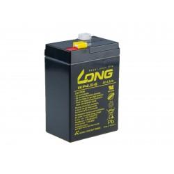 Long 6V 4,5Ah olověný akumulátor F1 PBLO-6V004,5-F1A