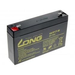 Long 6V 7Ah olověný akumulátor F1 PBLO-6V007-F1A