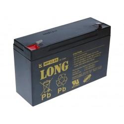 Long 6V 12Ah olověný akumulátor F1 PBLO-6V012-F1A