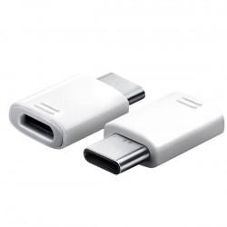 Samsung Type-C/microUSB Adapter White (Bulk) 8595642243677