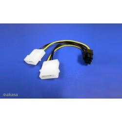 AKASA - 4-pin Molex na 6-pin ATX PCIex adaptér AK-CB4-6