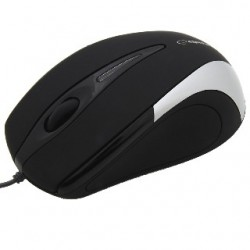 Esperanza EM102S SIRIUS optická myš, 800 DPI, USB, blister, čierno-strieborná EM102S - 5905784767031