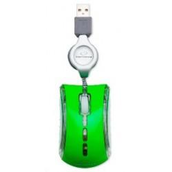 Esperanza EM109G CELANEO optická mini myš, 800 DPI, USB, navíjací kábel, zelená EM109G - 5901299900055