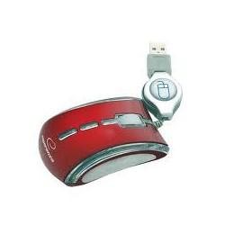 Esperanza EM109R CELANEO optická mini myš, 800 DPI, USB, navíjací kábel, červená EM109R - 5905784767369