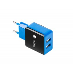 Universální nabíječka Natec 2,1A, 2x USB, černo-modrá NUC-0997
