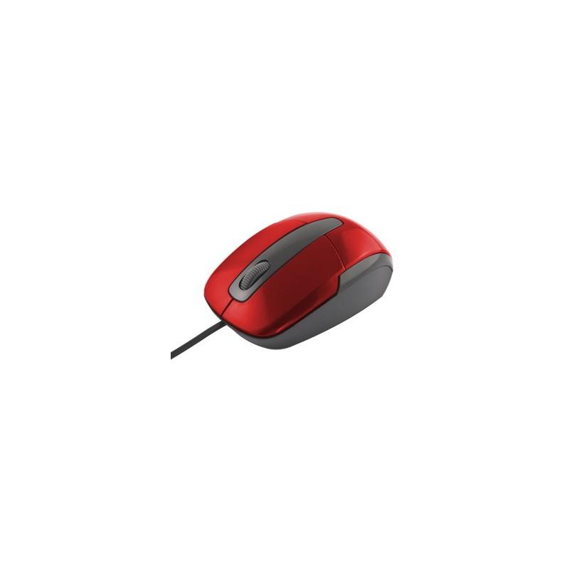 Esperanza Titanum TM108R BARRACUDA optická myš, 1000 DPI, USB, blister, červená TM108R - 5901299901779