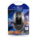 Esperanza Titanum TM102K RAPTOR optická myš, 1000 DPI, USB, blister, čierna TM102K - 5905784768854