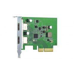 QNAP QXP-10G2U3A - Dvouportová USB 3.2 Gen2 10Gb PCIe rozšiřující...