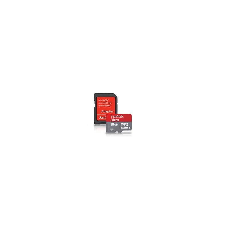 SanDisk microSDHC card 16GB CL4 + adapter SDSDQB-016G-B35
