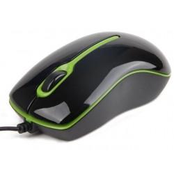 Gembird optická myš 1000 DPI, USB, čierno-zelená MUS-U-004-G