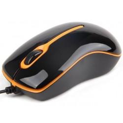 Gembird optická myš 1000 DPI, USB, čierno-oranžová MUS-U-004-O