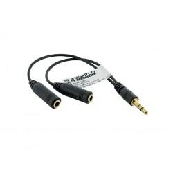 4World Adaptér audio 1x 3.5mm/2x 3.5mm Black 06868