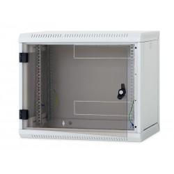 Nástěnný rack RUA 12U/500mm odn.boč+skl.dv.černý RUA-12-AS5-BAX-A1