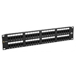 "19"" Patch panel Solarix 48 x RJ45 CAT5E UTP černý SX48-5E-UTP-BK"