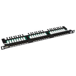 "19"" Patch panel Solarix 24xRJ45 CAT5E UTP černý SX24HD-5E-UTP-BK"
