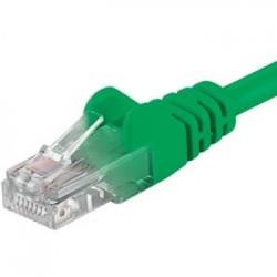 PremiumCord Patch kabel UTP RJ45-RJ45 level 5e 1m zelená sputp01G