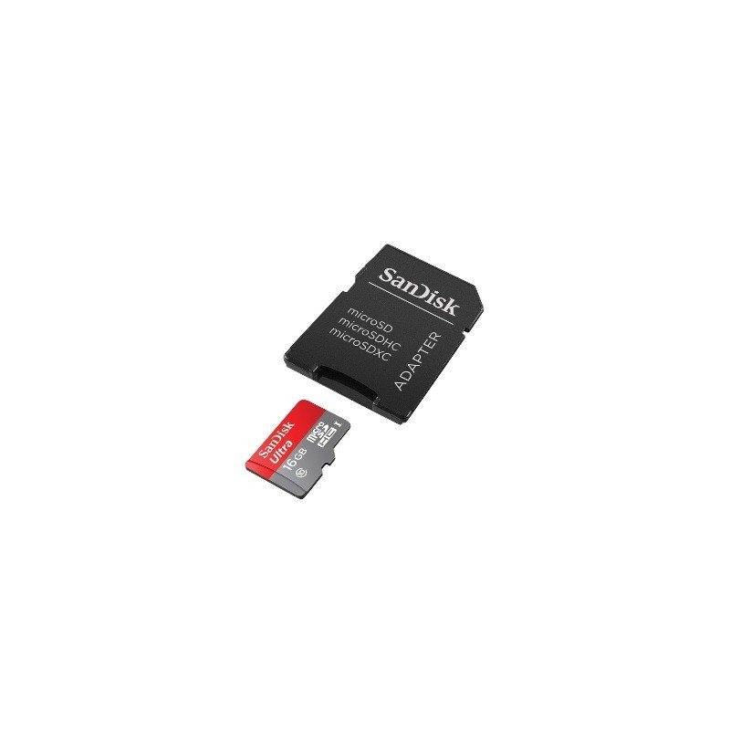 SanDisk Micro SDHC Ultra card 16GB 80MB/s CL10 SDSQUNC-016G-GN6MA