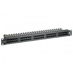 "19"" ISDN panel Solarix 50 x RJ45 černý 1U SX50-ISDN-BK"