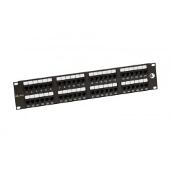"19"" Patch panel Solarix 48 x RJ45 CAT6 UTP černý SX48-6-UTP-BK"