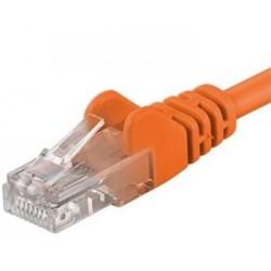 PremiumCord Patch kabel UTP RJ45-RJ45 Cat 5e 0.25m, oranžová sputp002E