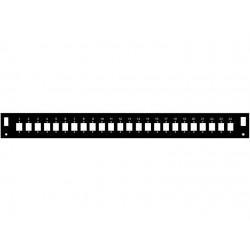 Čelo optické vany 1U pro 24 SC simplex BK FP2-1U-24SCS-B