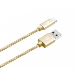 ALIGATOR PREMIUM Datový kabel 2A, USB-C zlatý DATKP09