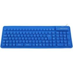 Esperanza EK126B silikónová klávesnica, vodotesná, US layout, USB/OTG, modrá EK126B -5901299905012