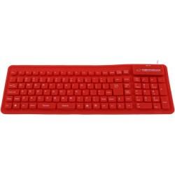 Esperanza EK126R silikónová klávesnica, vodotesná, US layout, USB/OTG, červená EK126R - 5901299905005